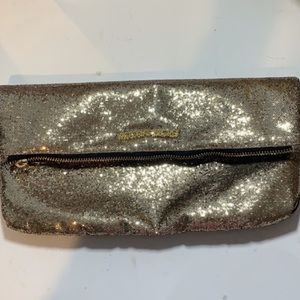 Victoria's Secret Gold Glitter Clutch